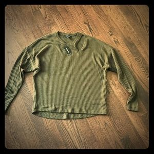 Express Olive Green top